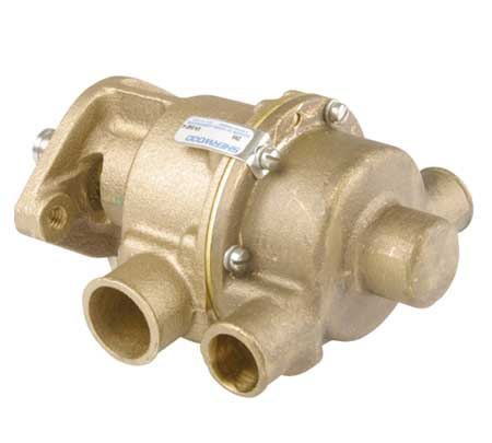 SHE D60 BRONZE PUMP with RUBBER IMPELLER